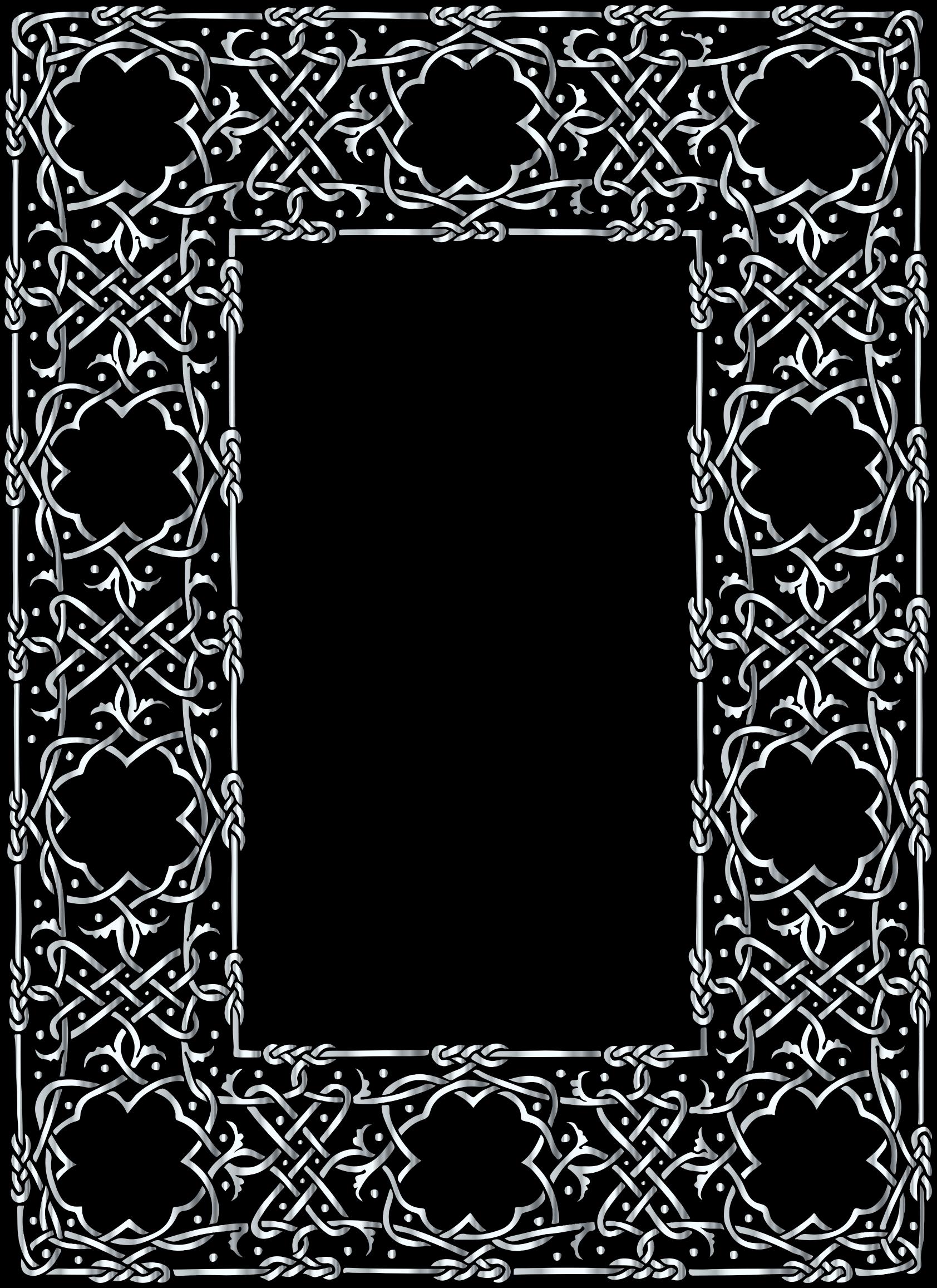 Frame clipart silver. Ornate geometric big image