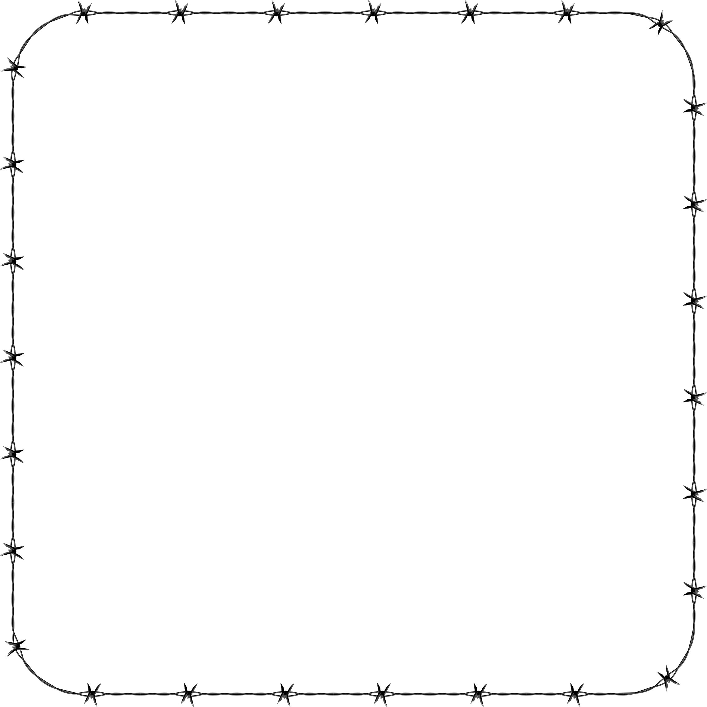 Barbed wire frame png.  collection of square