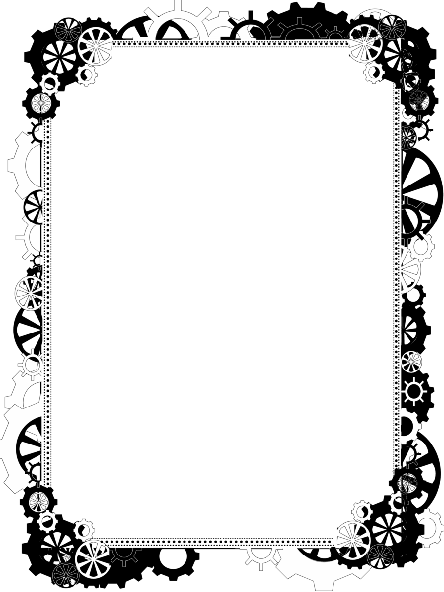 Free border png download. Steampunk clipart borders