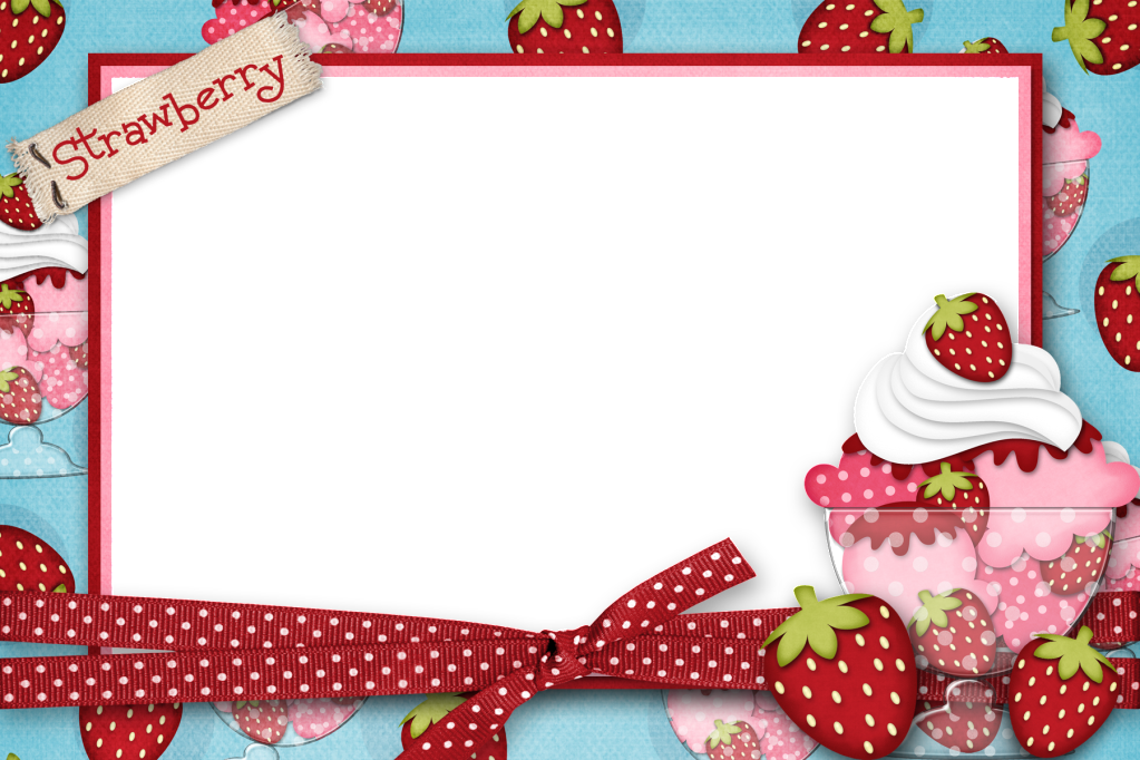 Strawberries clipart frame. Gro strawberry picture fotos