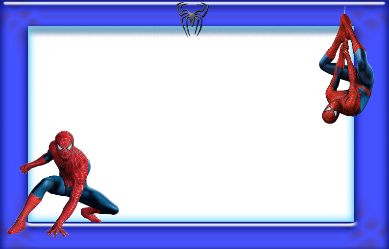 Spiderman free printable invitations. Frames clipart superhero