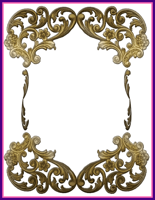 Fascinating digital printables ornate. Frame clipart transparent background