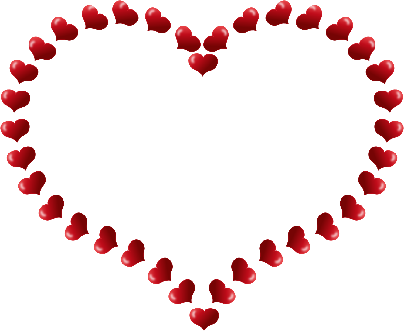 Heart border png hd. Hearts clipart science