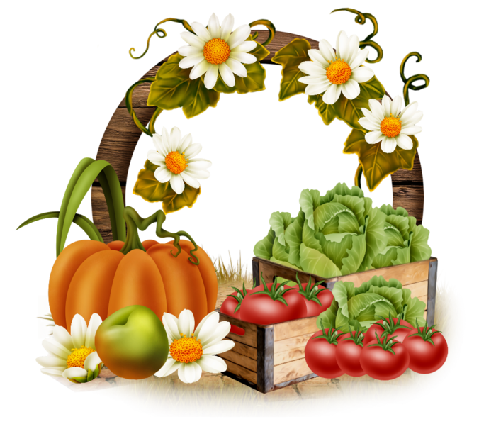 Frame clipart vegetable. Autunno cornici materiale in