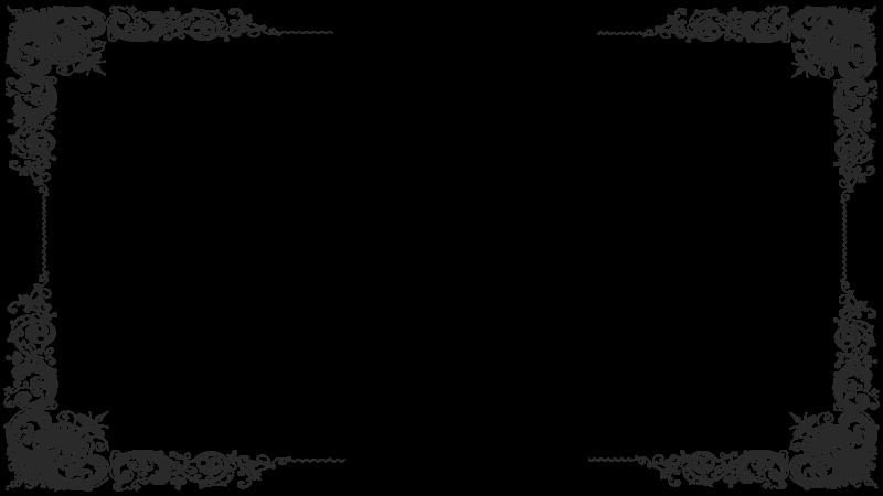 Black transparent stickpng. Victorian frame png