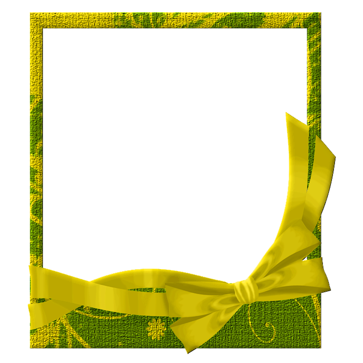 Green and transparent gallery. Yellow frame png