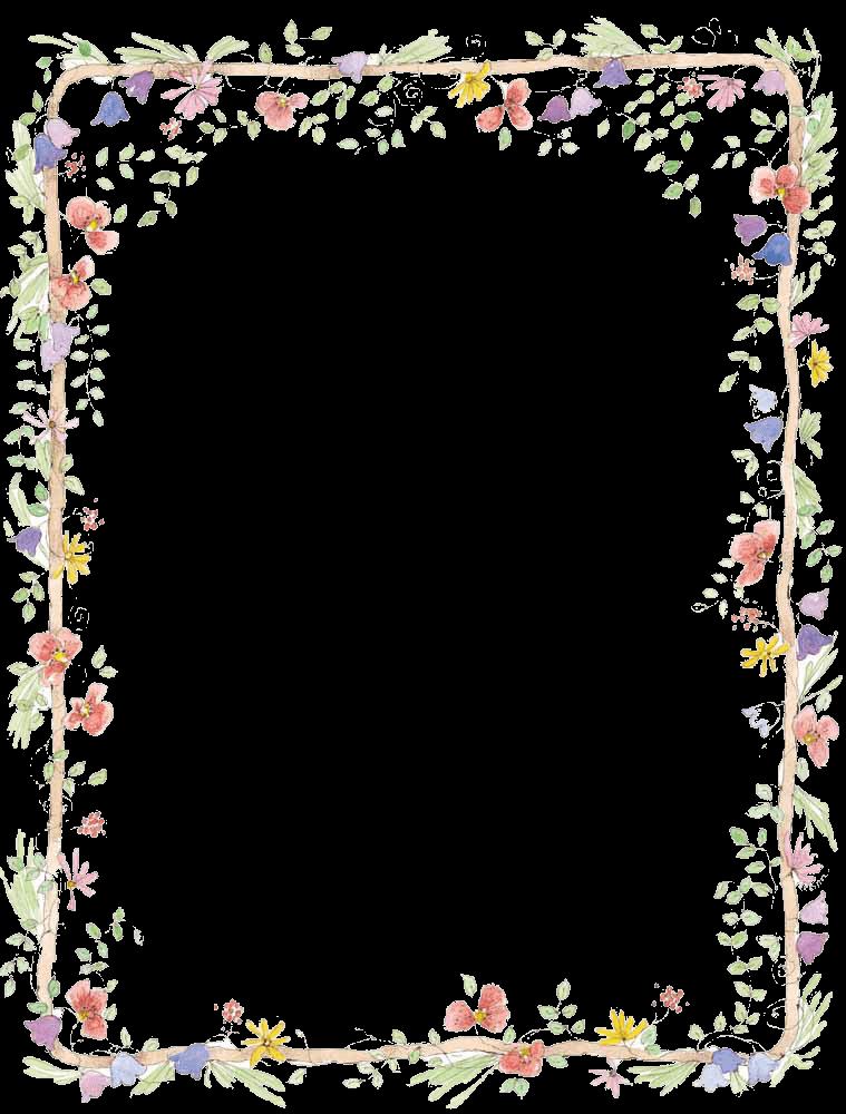 Frame png transparent. Frames images stickpng flowers