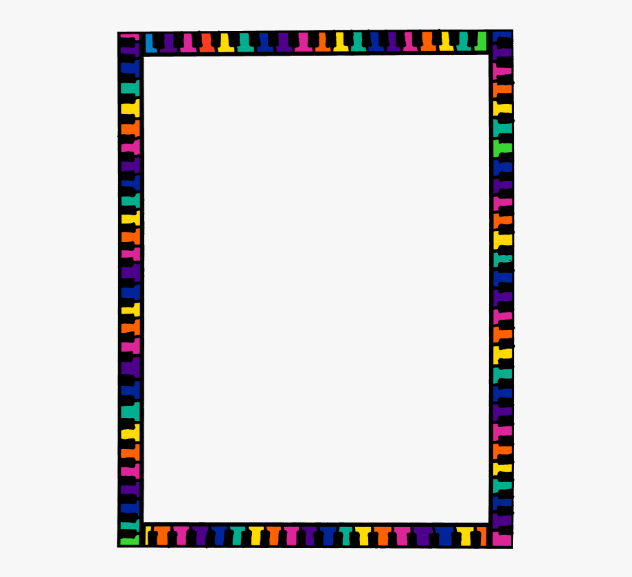 Border clipart frame. Colorful borders and frames