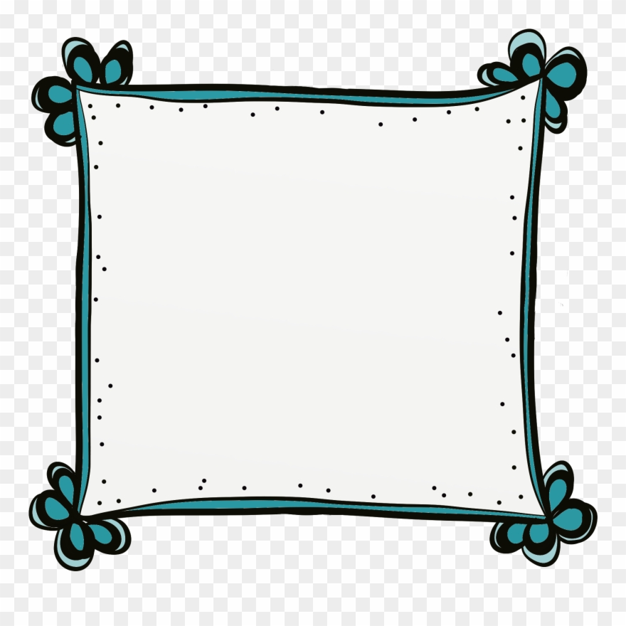 Frames clipart. Cute borders and bullet