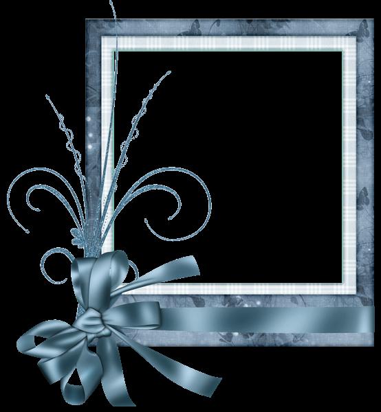 Frames clipart blue. Cute transparent frame with