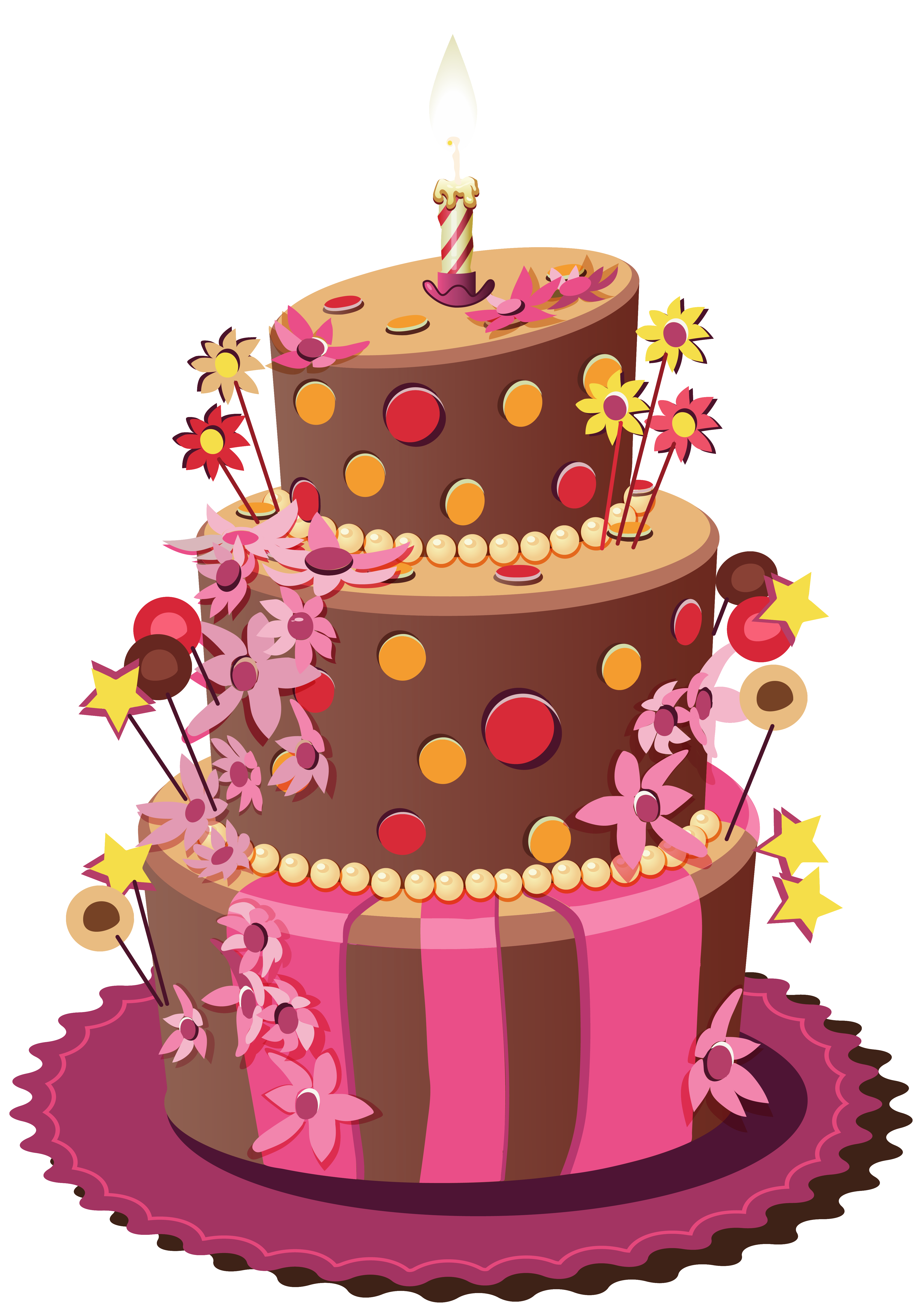 Birthday wedding sugar torte. Frames clipart cake