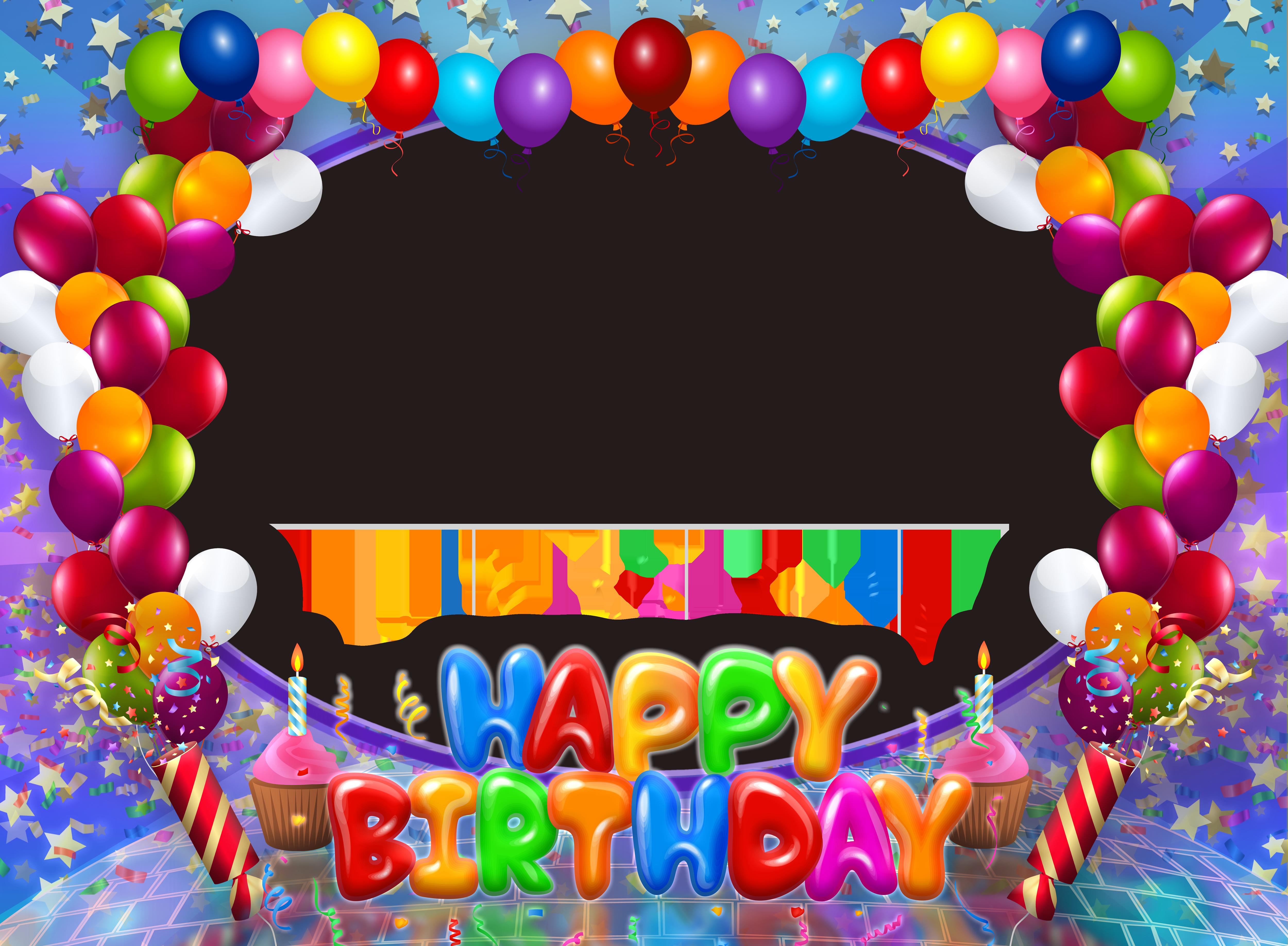 Frames clipart celebration. Happy birthday transparent png