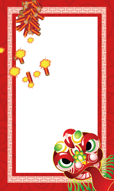 Frames clipart chinese new year. Images of border png