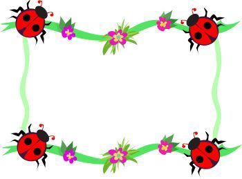 Whimsical page decoration royalty. Ladybug clipart frame