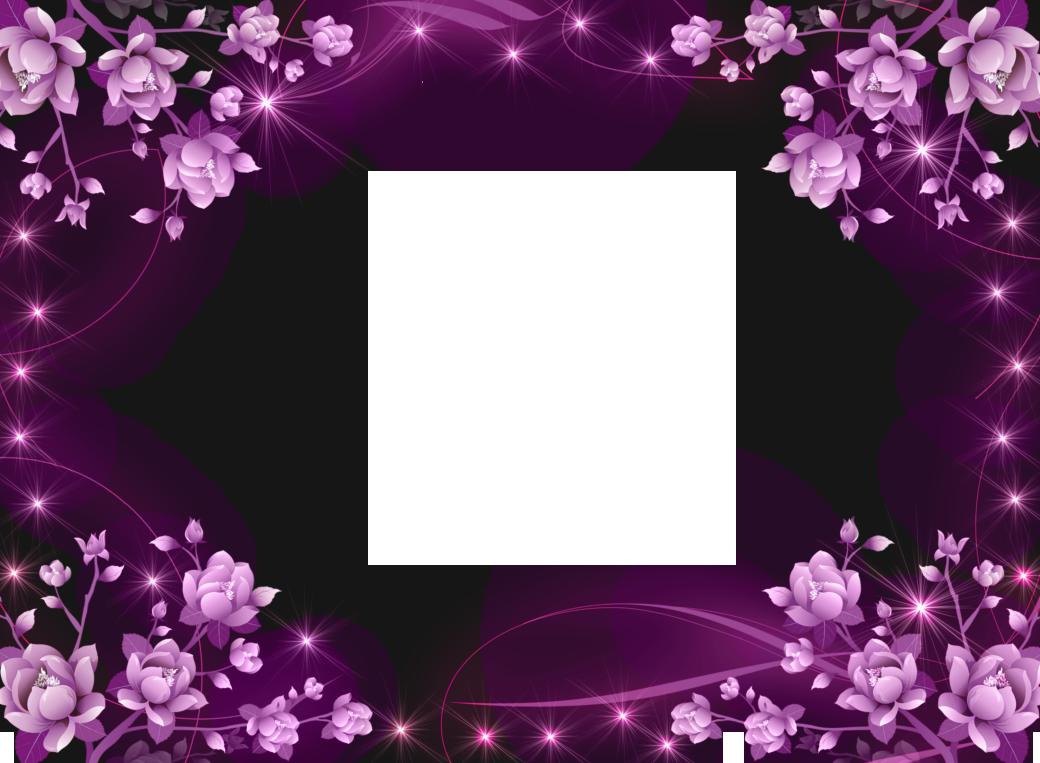 Orchid clipart lavender. Transparent pink flowers frame