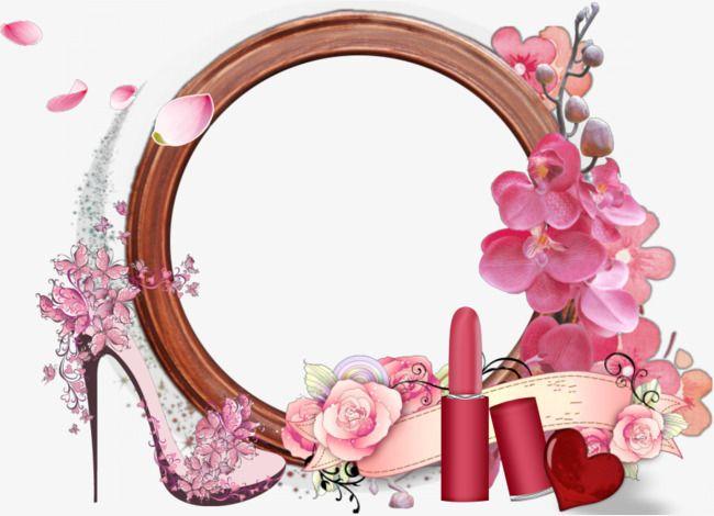 Makeup clipart bathroom border. Vector kawaii artist logo