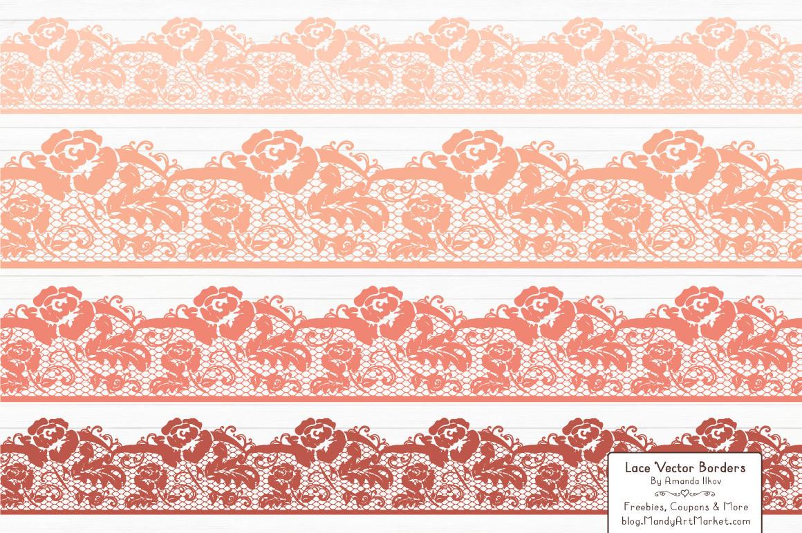 Free peach border cliparts. Lace clipart blush lace