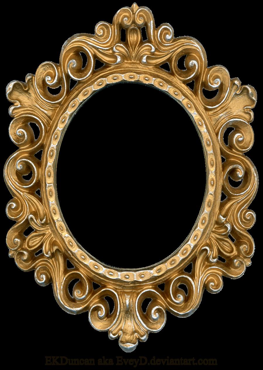 Vintage photo frame png. Gold clip art clipart
