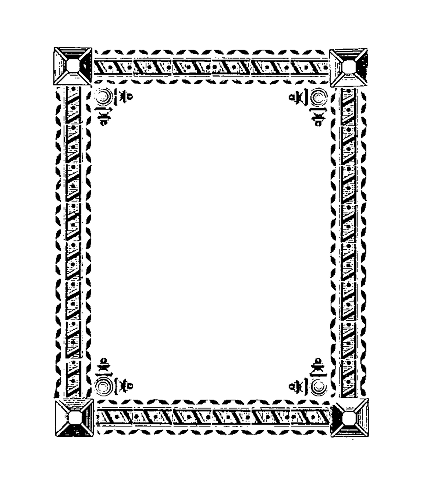 Digital design printable borders. Stamp clipart square