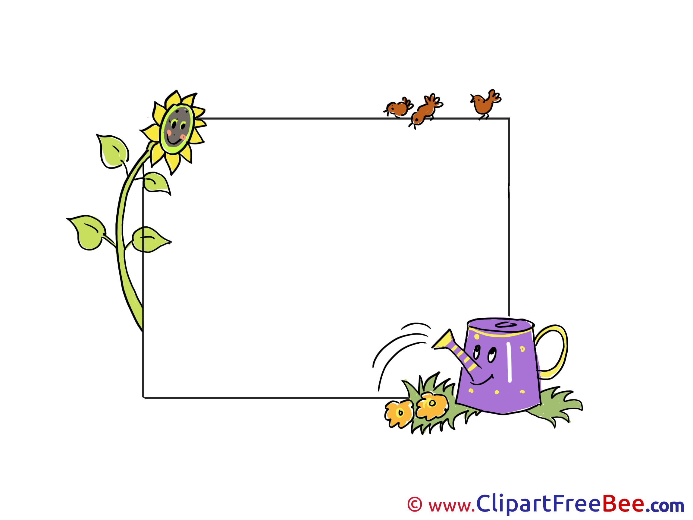 Frames clipart summer. Free cliparts