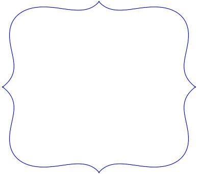 Scalloped frame best child. Frames clipart template