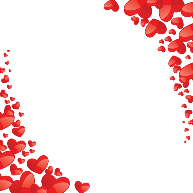 Hearts vector png. Beautiful heart frame red