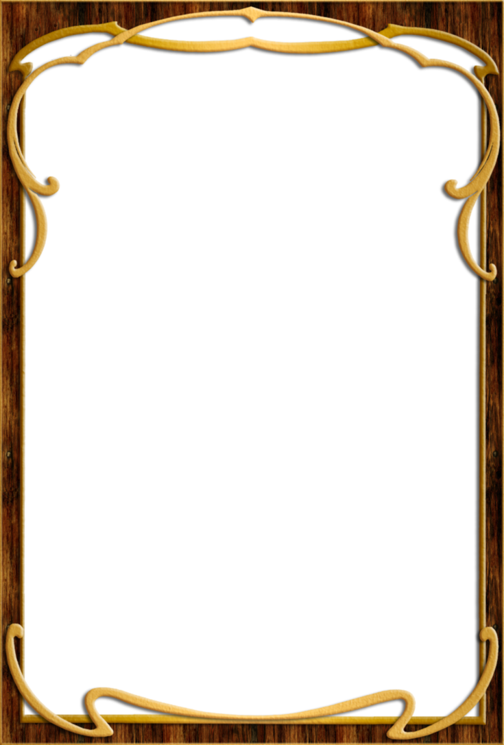 Frames clipart wood. Frame by ookamikasumi great