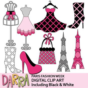 France clipart. Paris fashion week clip