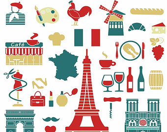 French clipart. Icons