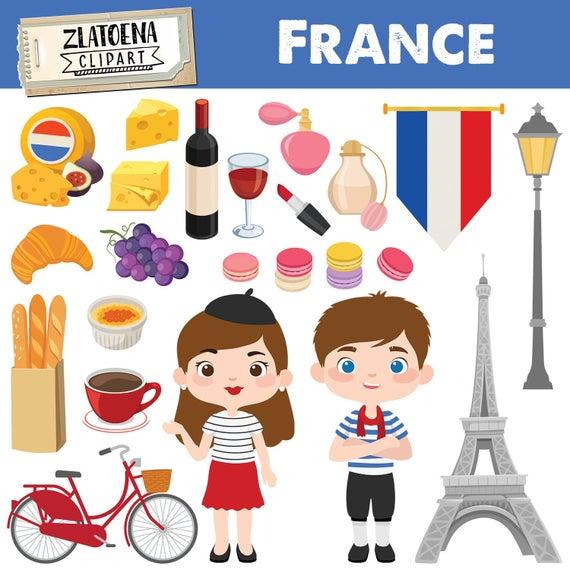 Paris digital art graphics. France clipart