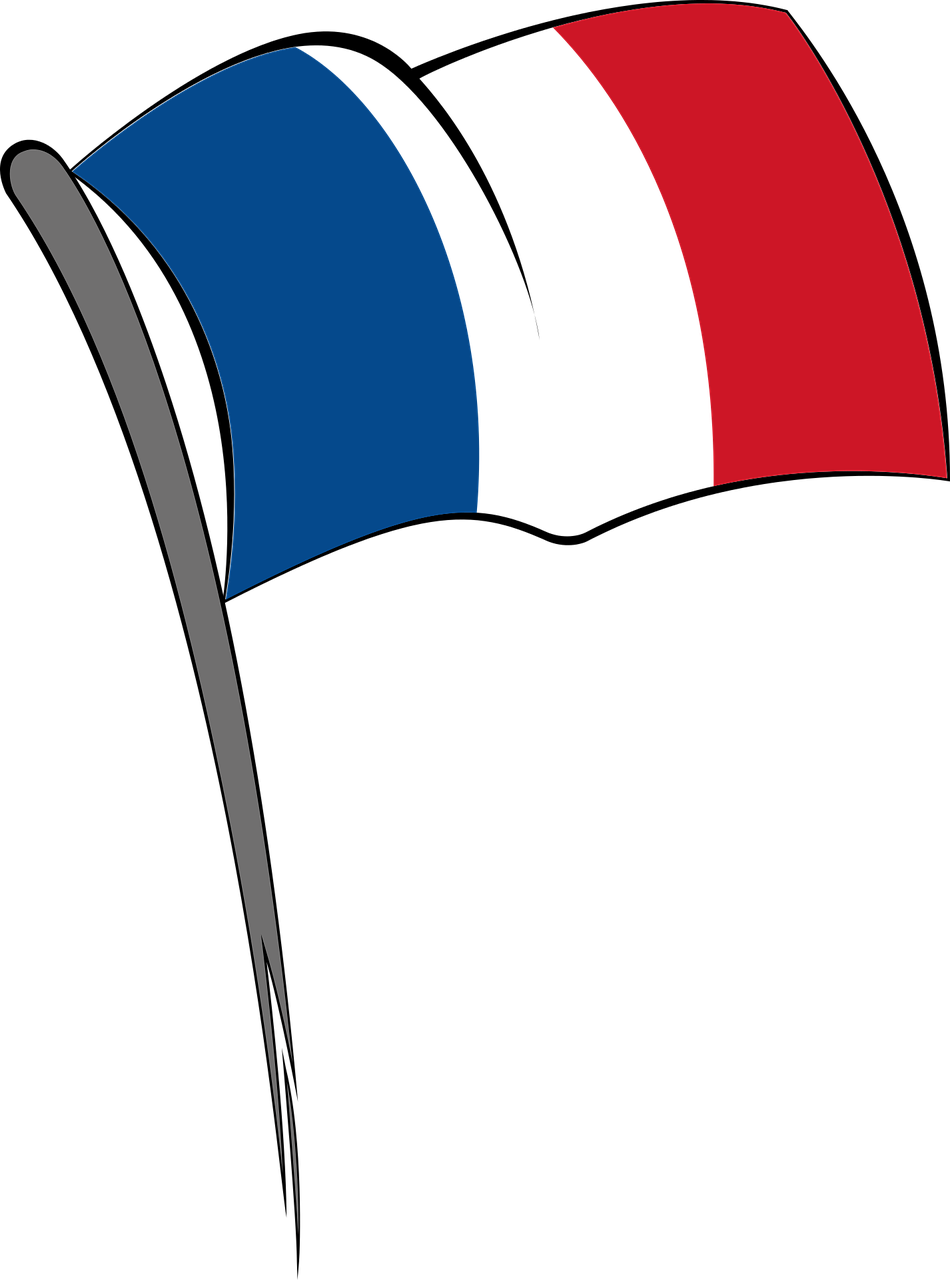 France clipart attraction france. Flag blue white red