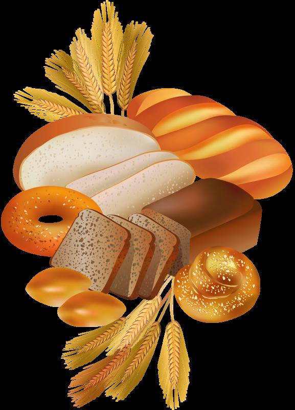 Gateaux tubes pain scrapbooking. France clipart basket bread
