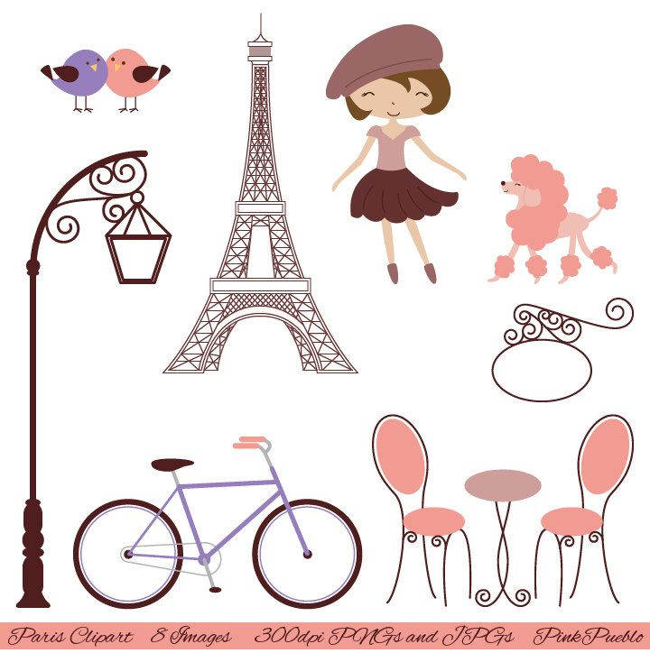 Paris clip art with. France clipart bistro french