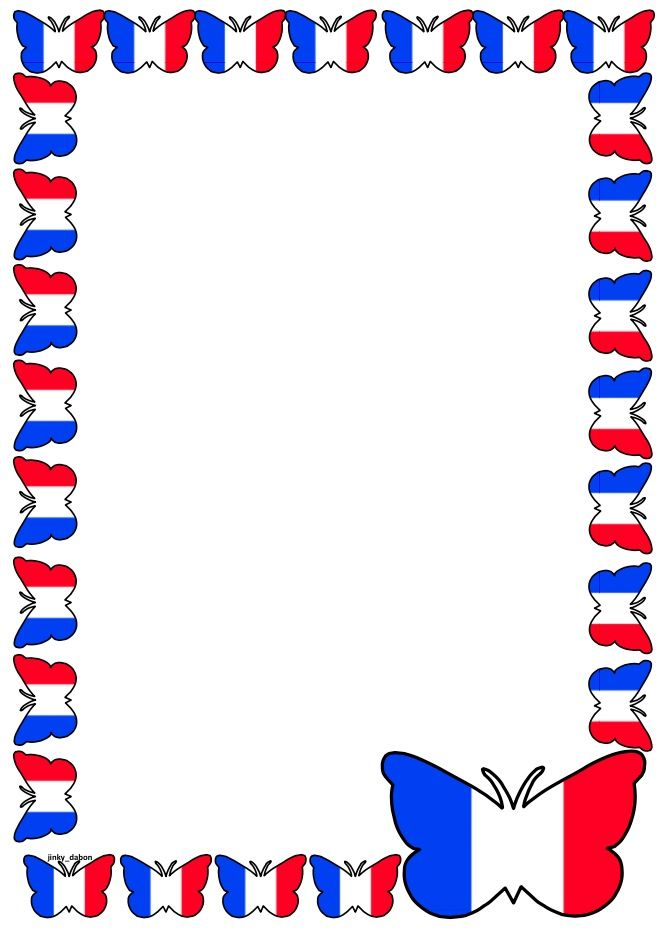 French clipart border french. France flag themed lined