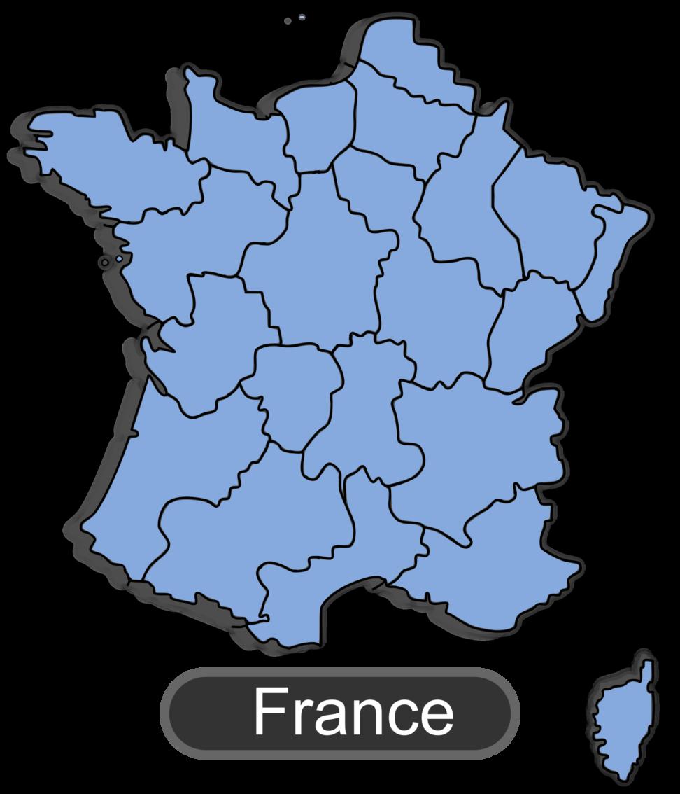 Map of big image. France clipart cartoon