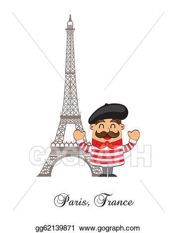 France clipart cartoon. Vector stock french illustration