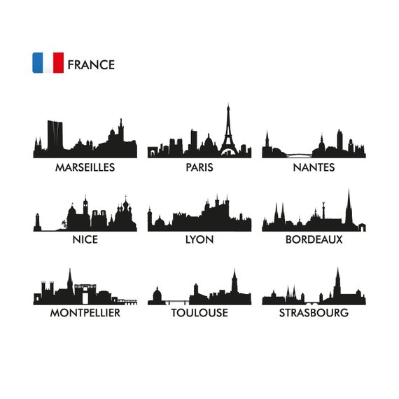 Pin by etsy on. France clipart city france