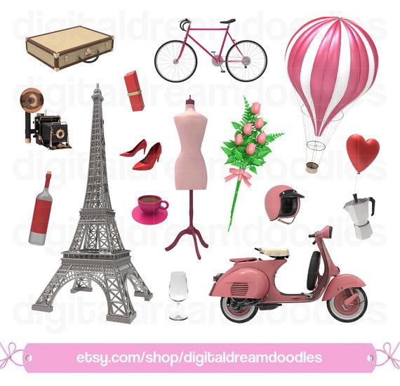 Paris clip art eiffel. French clipart love