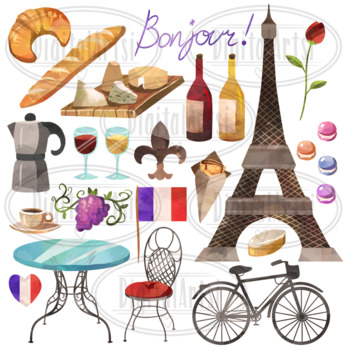 France clipart culture french. Watercolor