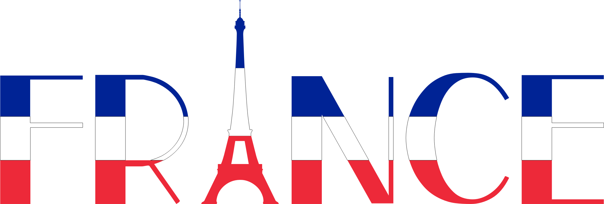 France big image png. French clipart typography