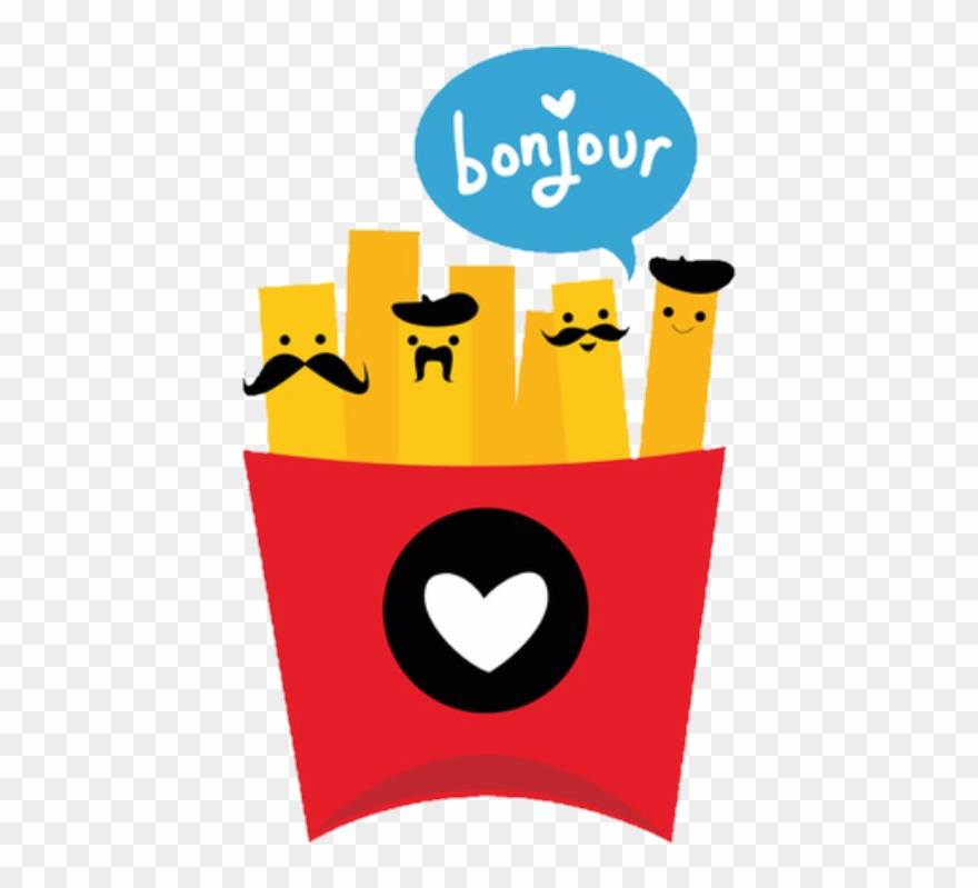 Ftefrenchfry frenchfry frenchfries bonjour. France clipart cute