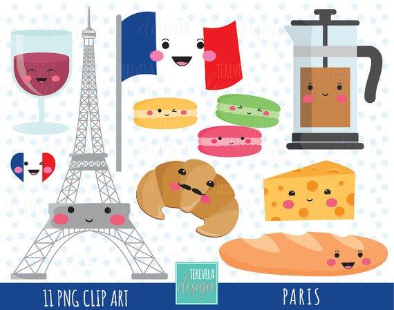 sale paris travel. France clipart cute