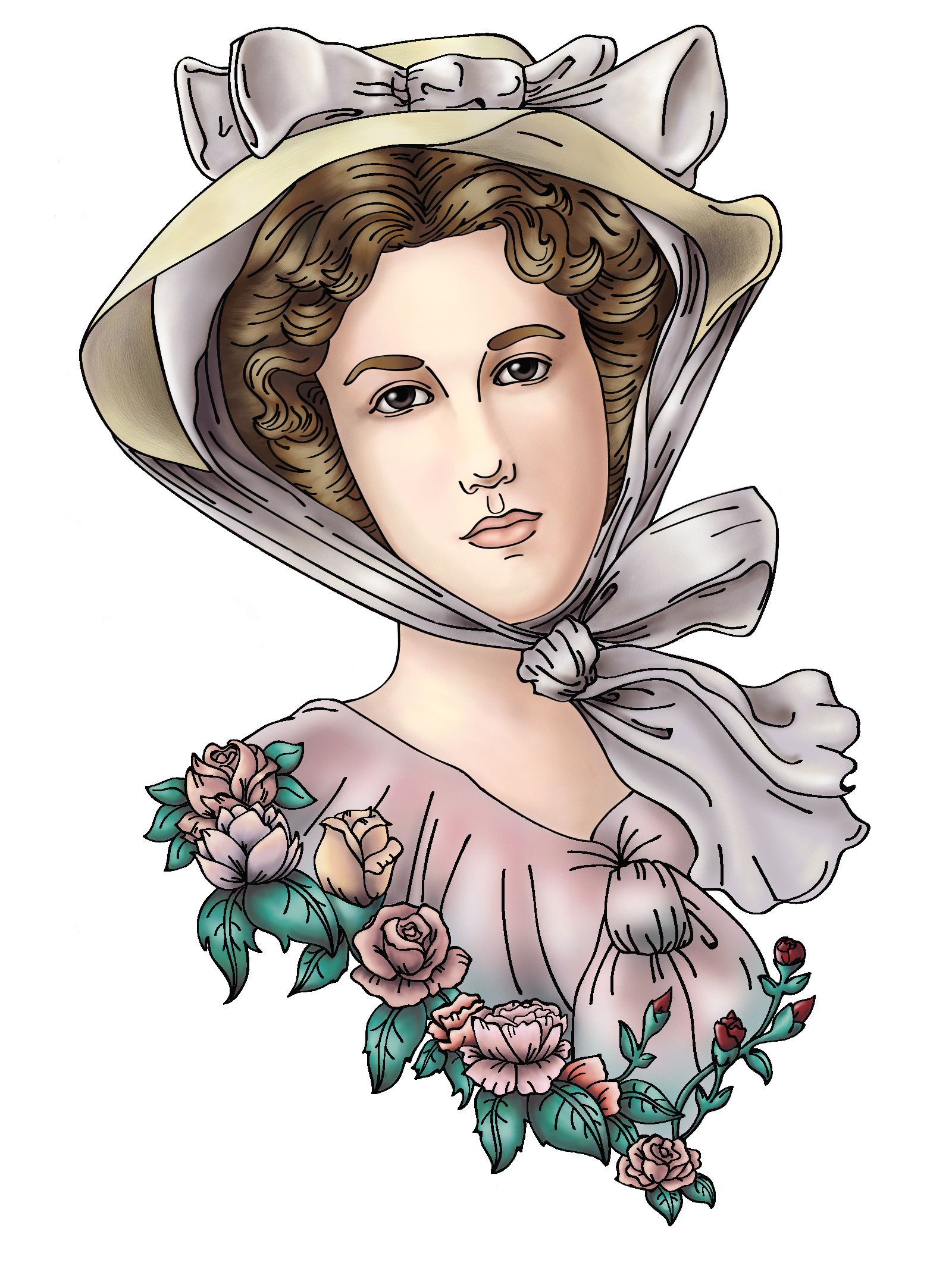 Tattoo desing based on. France clipart elegant woman