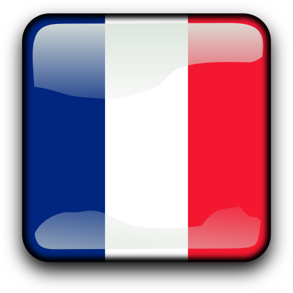 France button clip art. French clipart icon