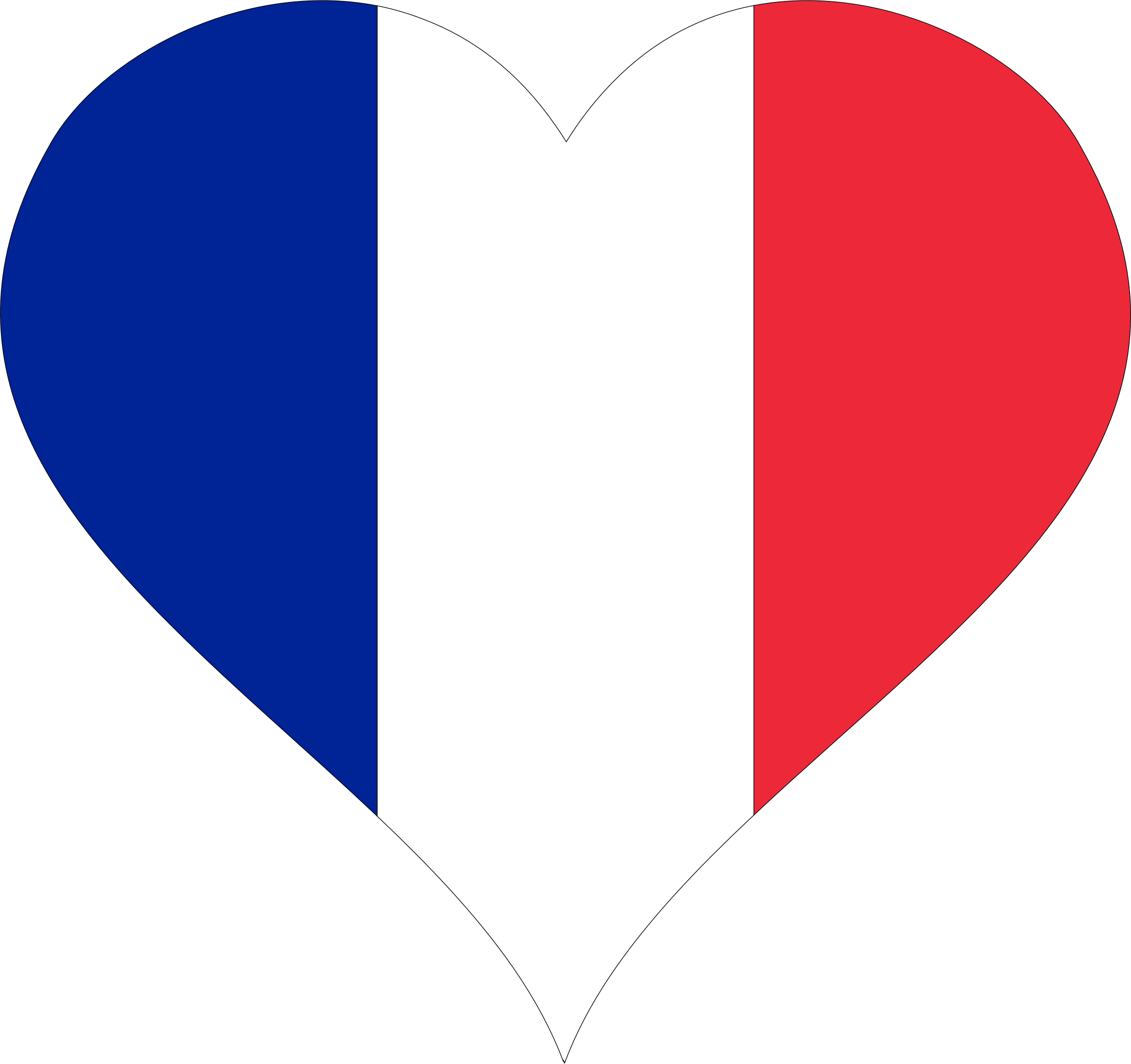 Heart icons png free. France clipart fractal
