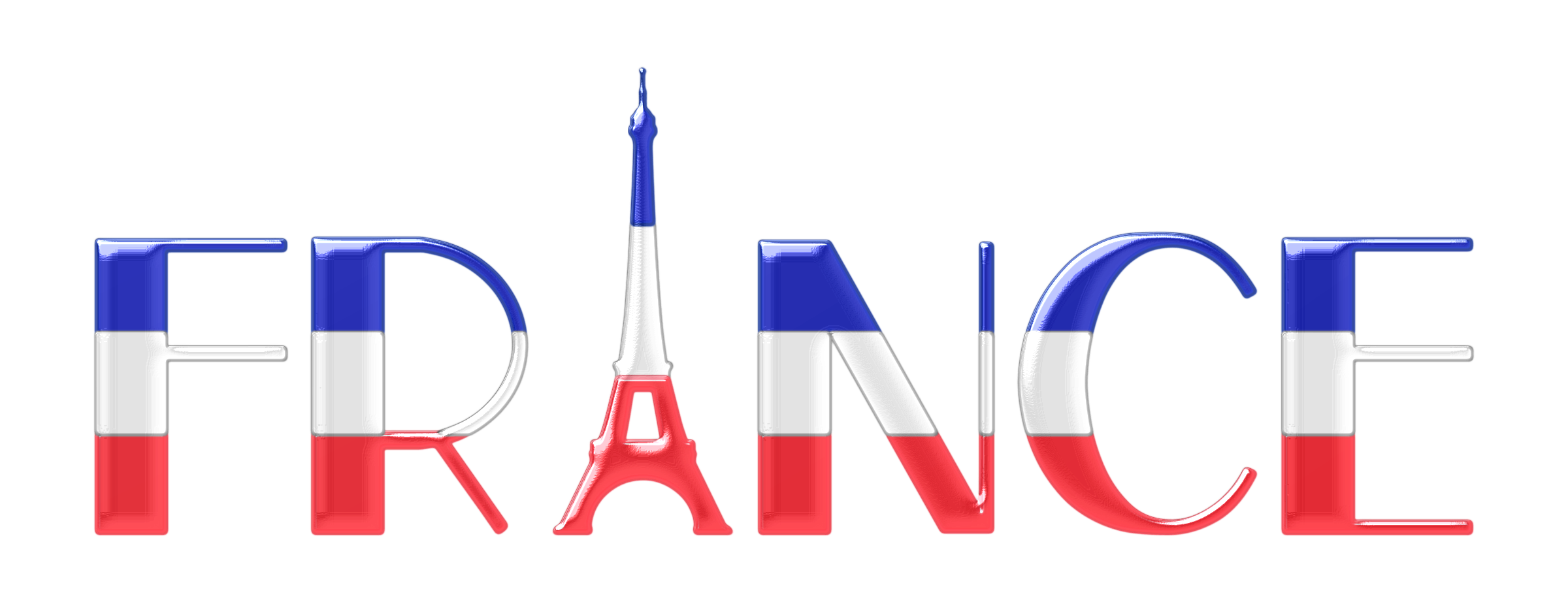 Typography enhanced icons png. France clipart fractal