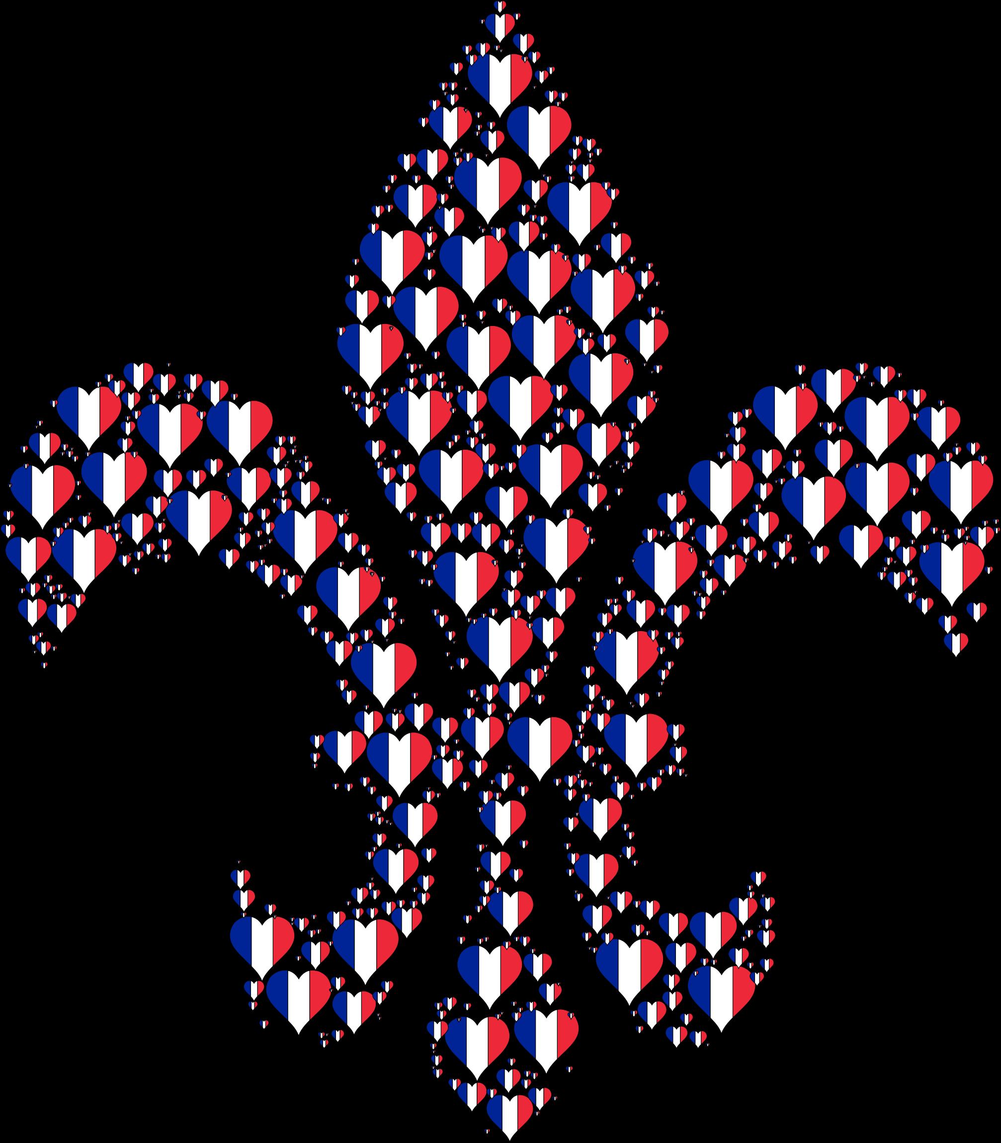 France clipart fractal. Heart fleur de lis