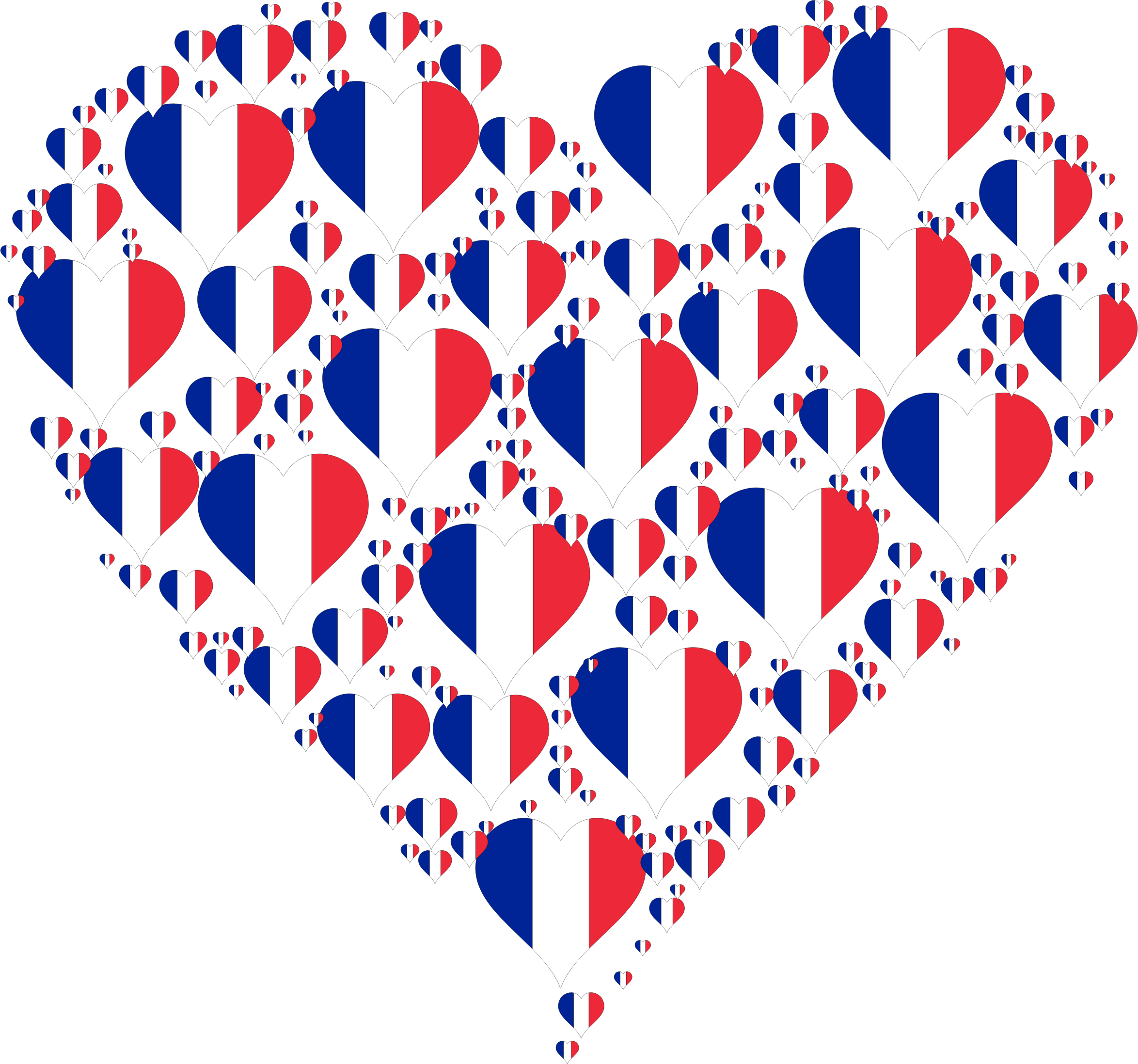 Heart france fractal big. French clipart icon