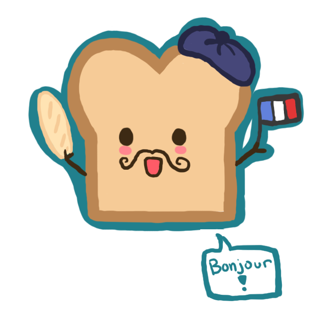My and me laughing. French clipart menu french