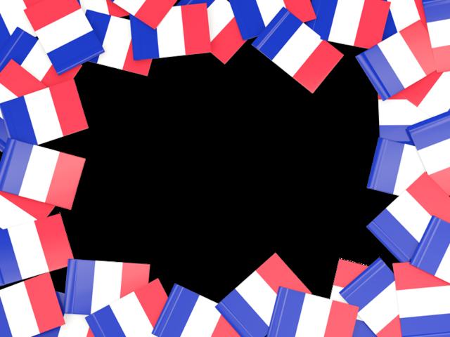Flag frame illustration of. France clipart french item